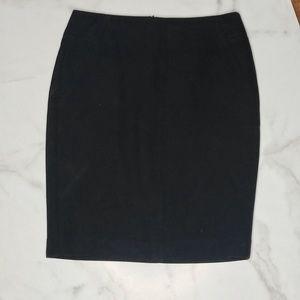 Loft Black Pencil Skirt Size 4P